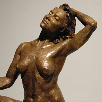 limited edition bronze figurative nude woman female sitting